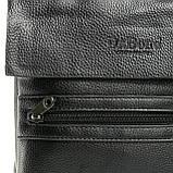 Шкіряна чоловіча сумка через плече / Мужская кожаная сумка через плечо DR. BOND 315-4 black, фото 4