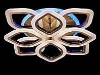 Диммернная потолочная люстра с пультом в спальню цвет бронза 80W Diasha&A3002/4+4BR LED 3color dimmer