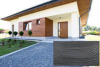 Декоративна Акрилова Панель Рельєф Дошка колір (Антрацит), (Польща)