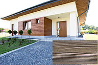 Декоративна Облицювальна Панель, Рельєф Дошка, колір (Природне Червоне Дерево 10), (Польща)