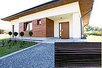 Декоративна Акрилова Панель, Рельєф Дошка, колір (Темне Червоне Дерево 18), (Польща)