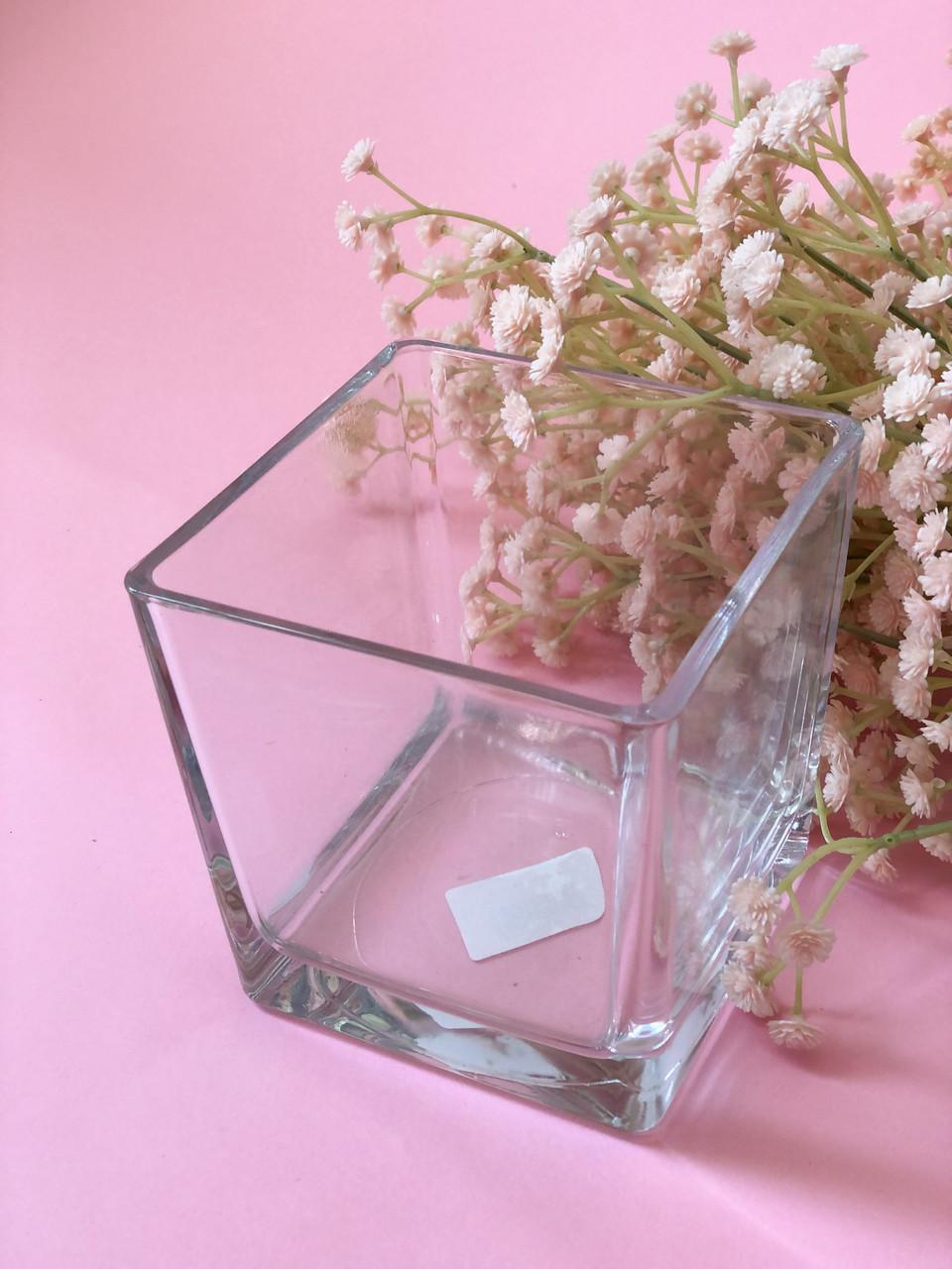 Ваза стеклянная квадратная (120*120 Н120)
