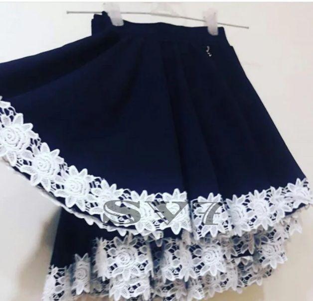 """Красивая школьная юбка для девочки """"Розочка"""""""