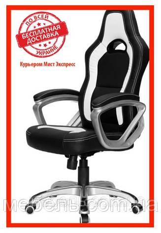 Компьютерное детское кресло Barsky SD-16 Sportdrive Game Black/Whit, черный / белый, фото 2