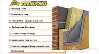 Утеплення будинків мінеральною ватою системою Greinplast (штукатурка мінеральна Барашек) Біла