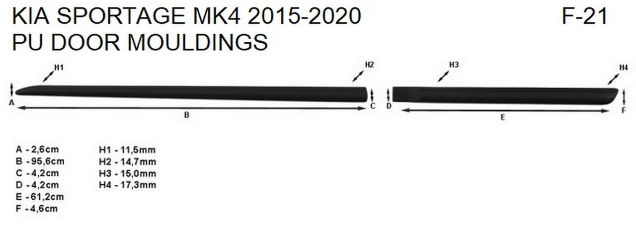 Молдинги на двері для KIA Sportage Mk4 2015-2020, фото 8