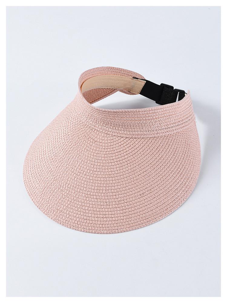 Женская летняя шляпа-козырек, на резинке, розовая
