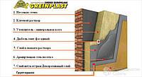 Утеплення будинків мінеральною ватою системою Greinplast (штукатурка мінеральна Короїд) Колор