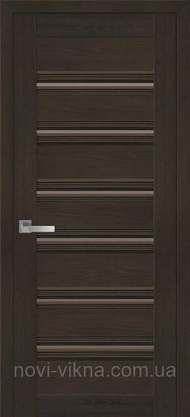 Дверь межкомнатная Венеция С1 жемчуг кофейный 700 мм с бронзовым стеклом.