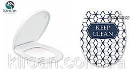 """Сиденье для унитаза с крышкой (пластик) """"Keep clean"""" Elif plastik , Турция 36,5х45 см"""
