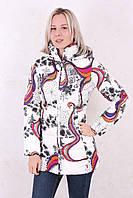 Женское зимнее пальто Azimuth 1178 белое