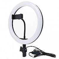 Кольцевая LED лампа USB с держателем для телефона LED Ring Fill Light  (26 см)