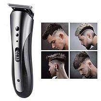 Электрическая машинка для стрижки волос 3 в 1 Kemei KM-1407 триммер портативный беспроводной, фото 2