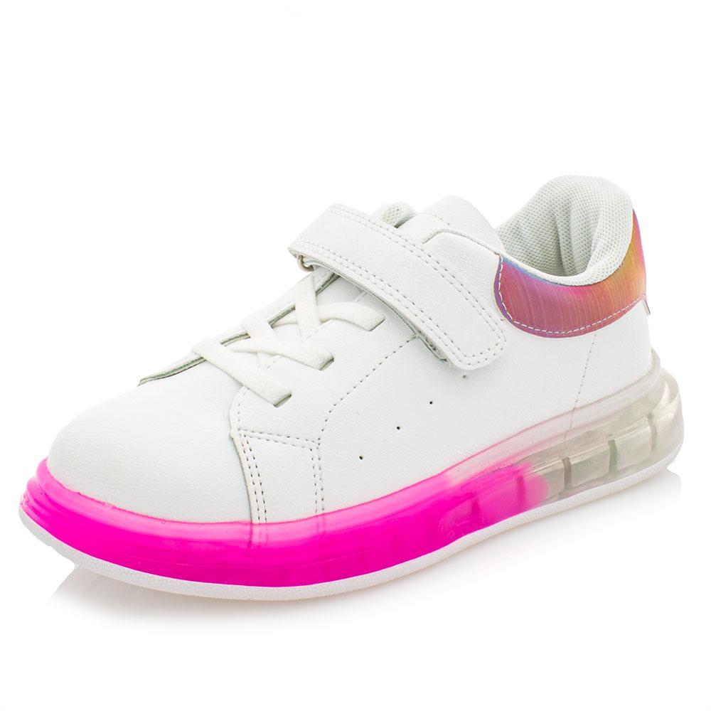 Кроссовки для девочек Jong Golf 26  бело-малиновые 981030