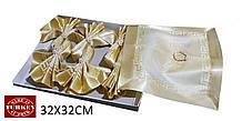 Сервірувальні серветки з затискачами VERSACE в 4-х кольорах (32х32см)