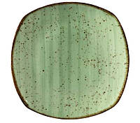 Тарелка мелкая квадратная Corendon Atlantis Green 25 см