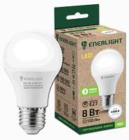 Лампа светодиодная 8W ENERLIGHT A60 230V 4100K 720Lm E27