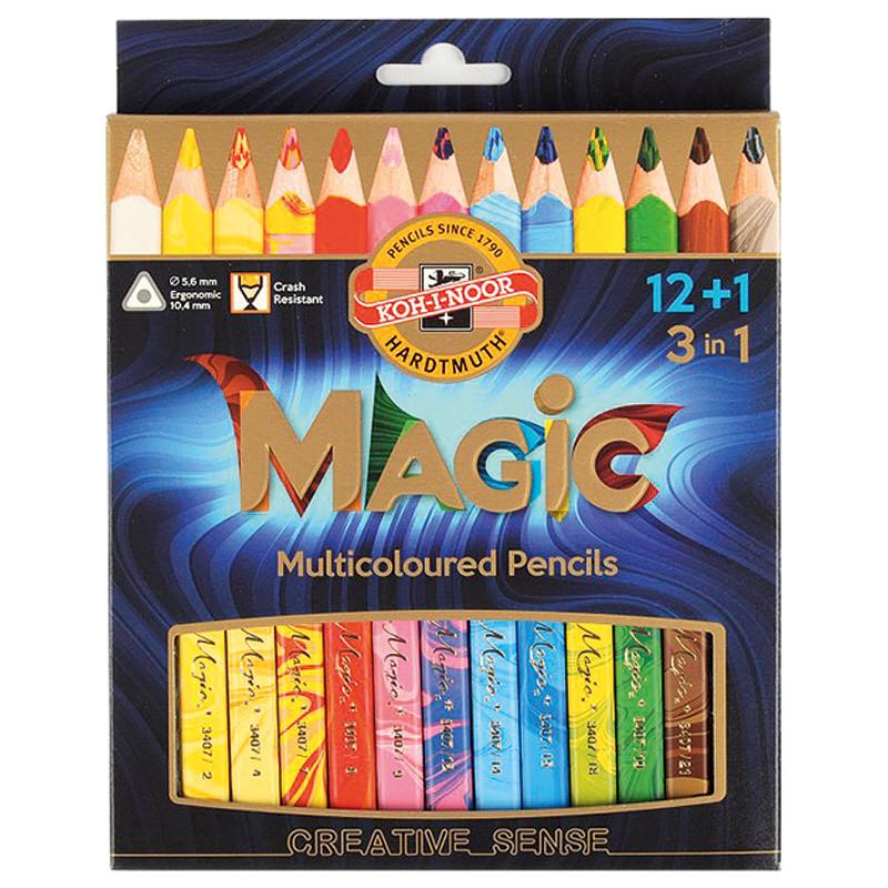 Карандаши цветные Koh-i-noor Magic 13цв подарочная упаковка (340801)