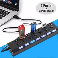 Концентратор  USB HUB  7 портов UKC, фото 1