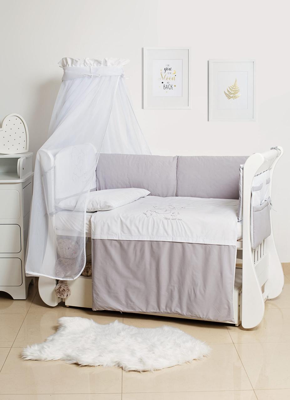 Детская постель Twins Dolce Loving Bear 4062-D-008 white/grey 8 эл