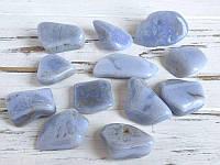 Галтовка голубой агат сапфирин 2- 3 см