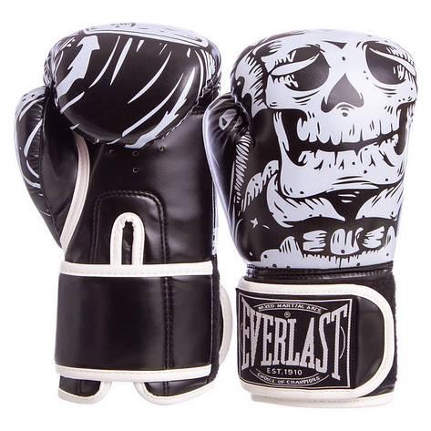 Перчатки боксерские FLEX на липучке Everlast черные 8 унций BO-5493, фото 2