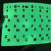 Флуоресцентные наклейки на клавиатуру (с подсветкой) русский + английский, фото 6