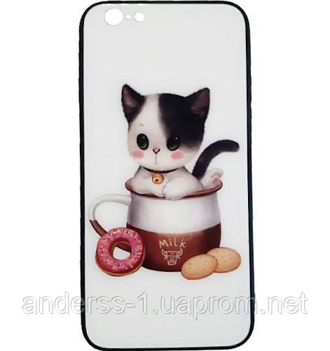 Чехол для iPhone 8 White Cat