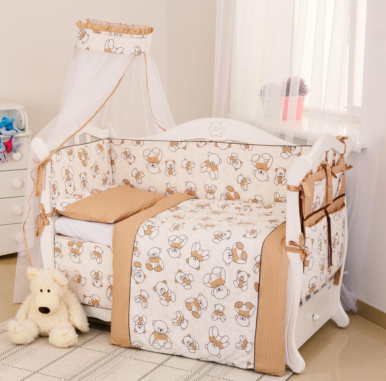 Детская постель Twins Dolce Мишки 4061-D-004 brown 8 эл