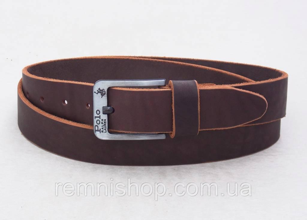 Кожаный мужской коричневый ремень Polo Ralph Lauren
