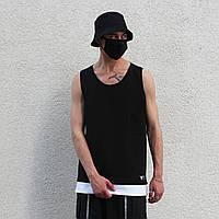 Майка мужская с подшитой футболкой оверсайз Geras летняя черная ЛЮКС качества