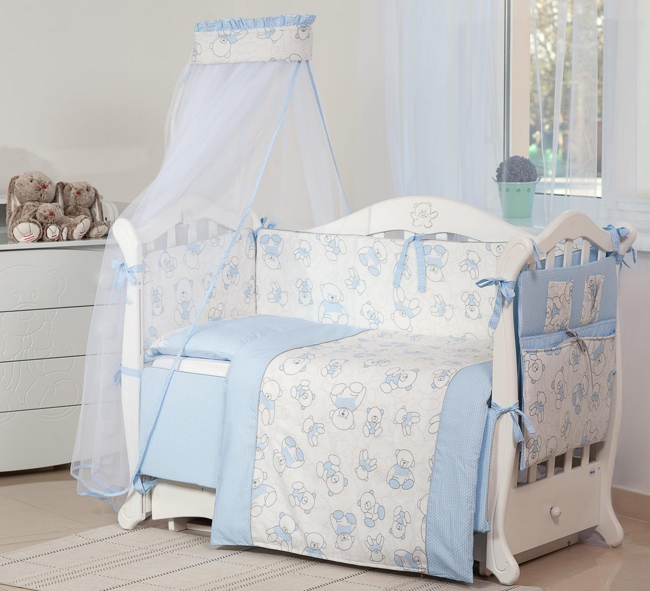 Детская постель Twins Dolce Мишки 4061-D-007 Pink 8 эл