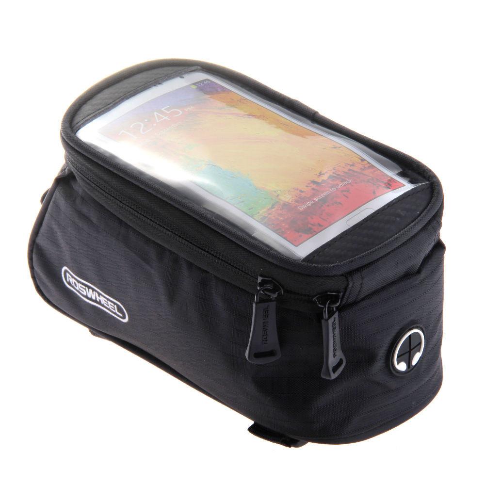 "Сумка Roswheel на раму, для телефона 6.0-6.5"", черная"