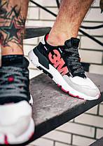 Чоловічі кросівки Adidas Nite Jogger 3M Black White, фото 3
