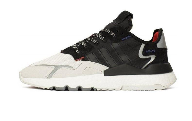 Чоловічі кросівки Adidas Nite Jogger 3M Black White