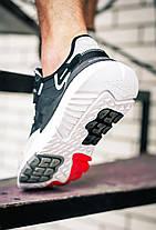 Чоловічі кросівки Adidas Nite Jogger 3M Black White, фото 2