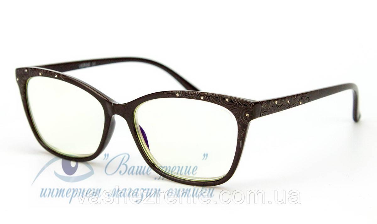 Окуляри жіночі для зору +/- Blue Blocker Код:1335