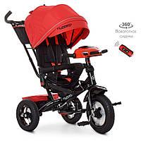 Дитячий триколісний велосипед-коляска з поворотним сидінням TurboTrike M 4060-1 червоний, фото 1