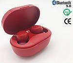 Беспроводные наушники блютуз гарнитура наушники Bluetooth 5.0 Wi-pods M8 RED с зарядным чехлом-кейсом, фото 2