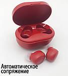 Беспроводные наушники блютуз гарнитура наушники Bluetooth 5.0 Wi-pods M8 RED с зарядным чехлом-кейсом, фото 3