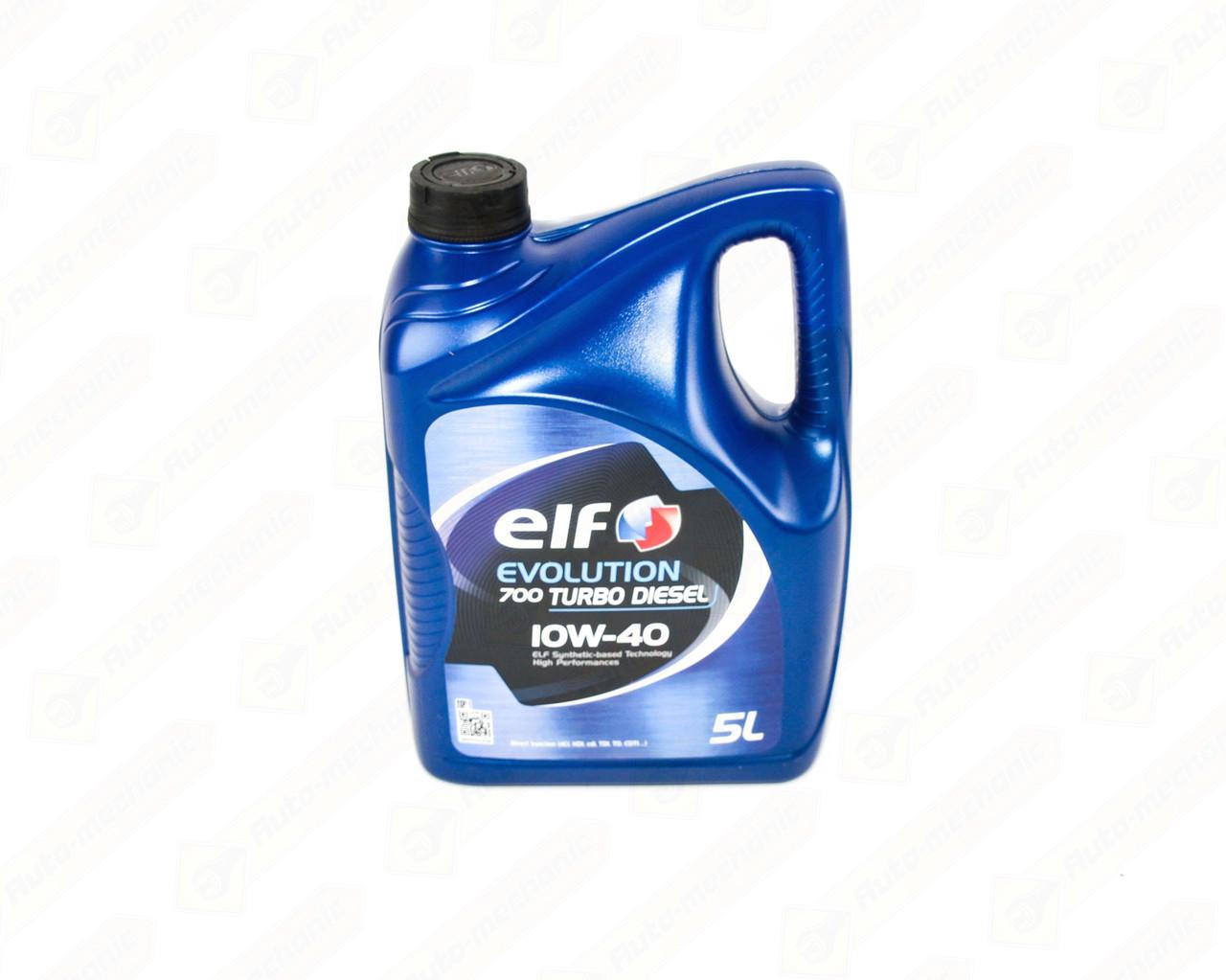 Моторное масло ELF Evolution 700 Turbo Diesel 10W40 (5 Liter)