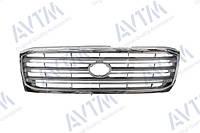 Решетка радиатора Toyota Land Cruiser 100 1998-2008 хром./серый без эмблемы
