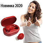 Беспроводные наушники блютуз гарнитура наушники Bluetooth 5.0 Wi-pods M8 RED с зарядным чехлом-кейсом, фото 6