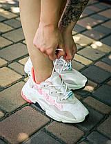 Женские кроссовки Adidas Ozweego Adiprene White Orange, фото 2