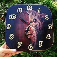 Часы, часы настенные, часы на кухню, ручная работа,коты