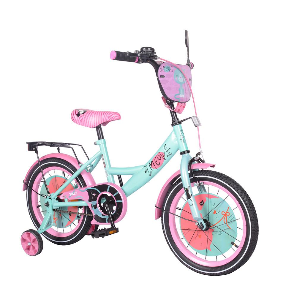Велосипед дитячий TILLY Meow 16 T-216218 Blue + Pink Гарантія якості Швидка доставка