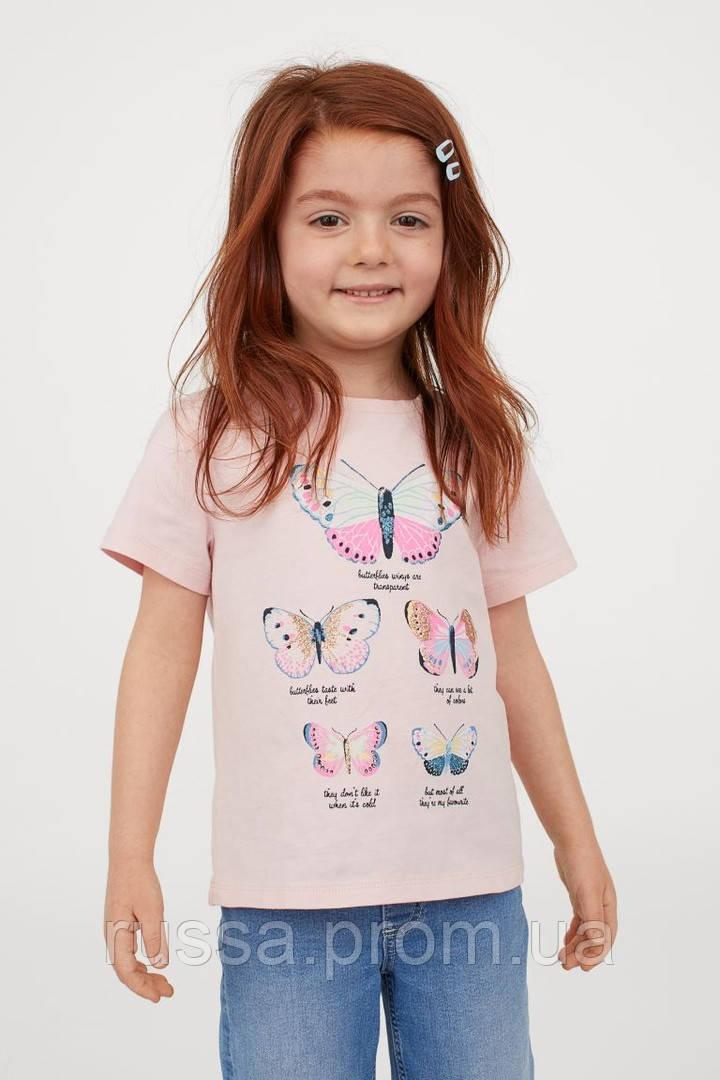 Трикотажная футболочка Бабочки НМ для девочки
