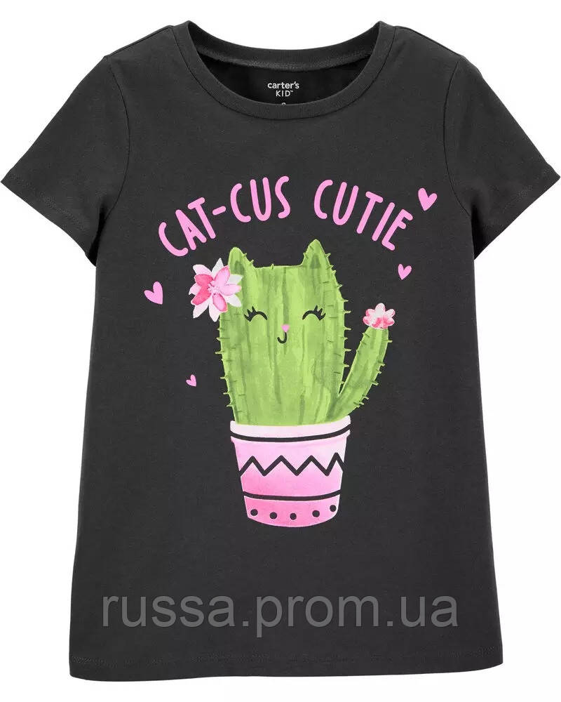 Красивая футболка с котенком Картерс для девочки