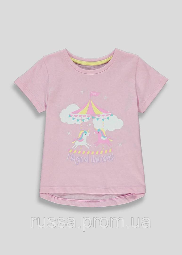 Красивая летняя футболочка Единороги Маталан для девочки