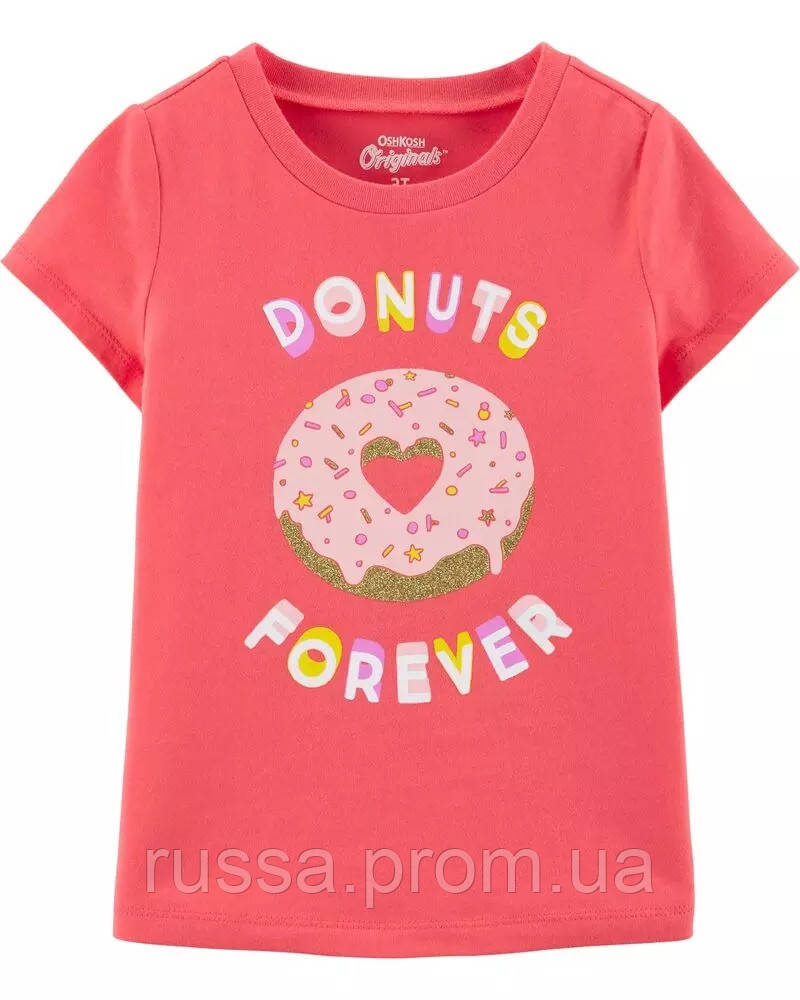 Трикотажная летняя футболка для девочки Пончик ОшКош